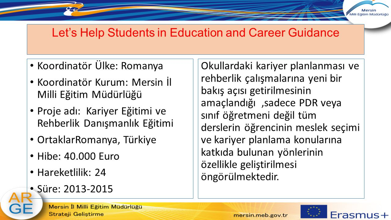 Let's Help Students in Education and Career Guidance