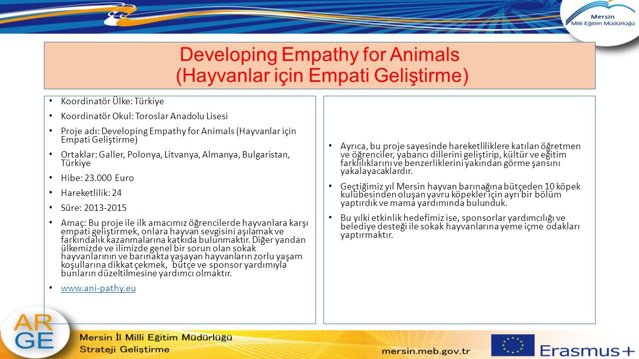 Developing Empathy for Animals (Hayvanlar için Empati Geliştirme)