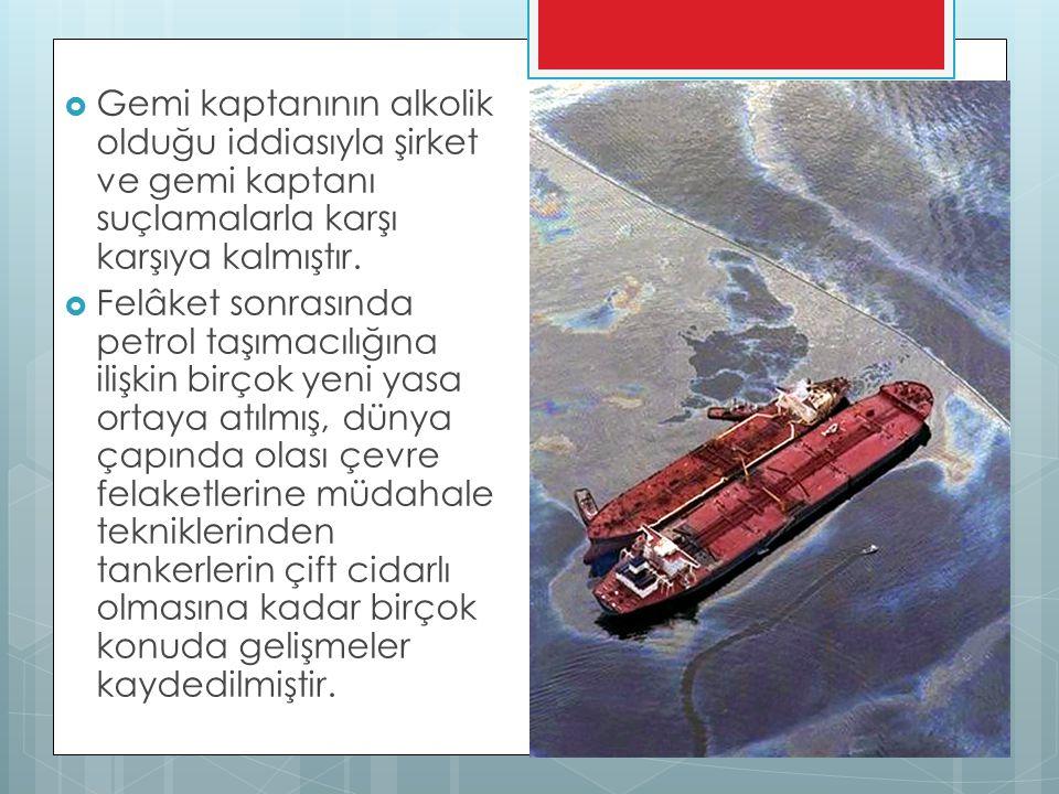 Gemi kaptanının alkolik olduğu iddiasıyla şirket ve gemi kaptanı suçlamalarla karşı karşıya kalmıştır.