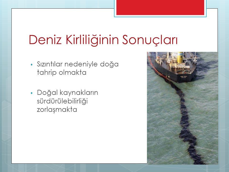 Deniz Kirliliğinin Sonuçları