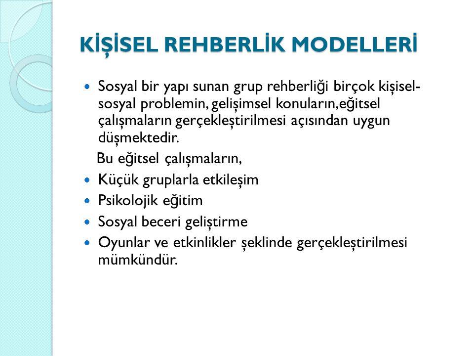 KİŞİSEL REHBERLİK MODELLERİ