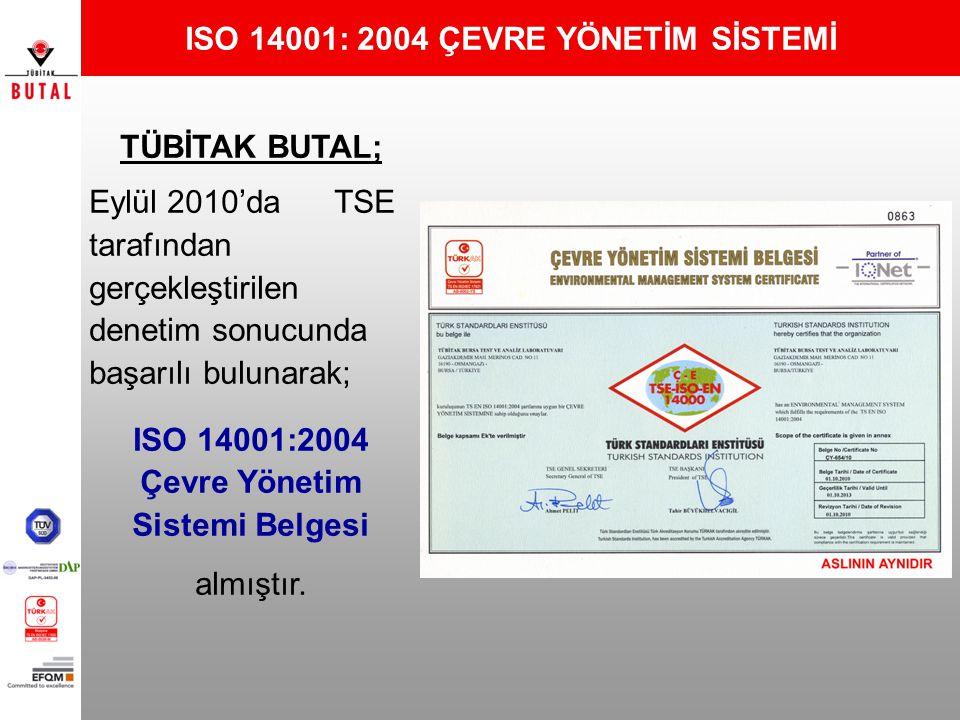 ISO 14001: 2004 ÇEVRE YÖNETİM SİSTEMİ