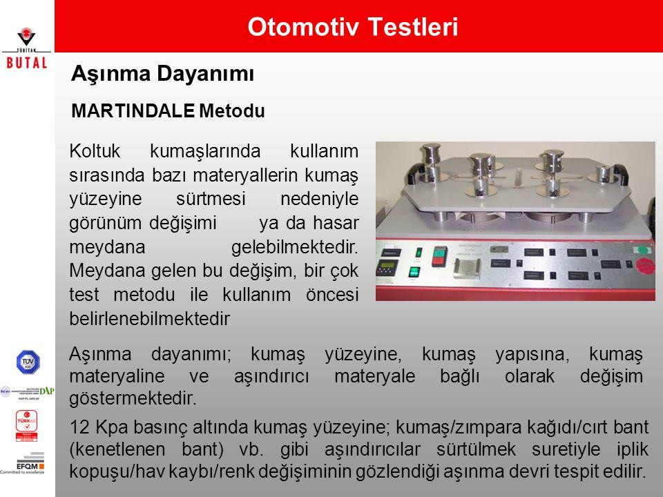 Otomotiv Testleri Aşınma Dayanımı MARTINDALE Metodu