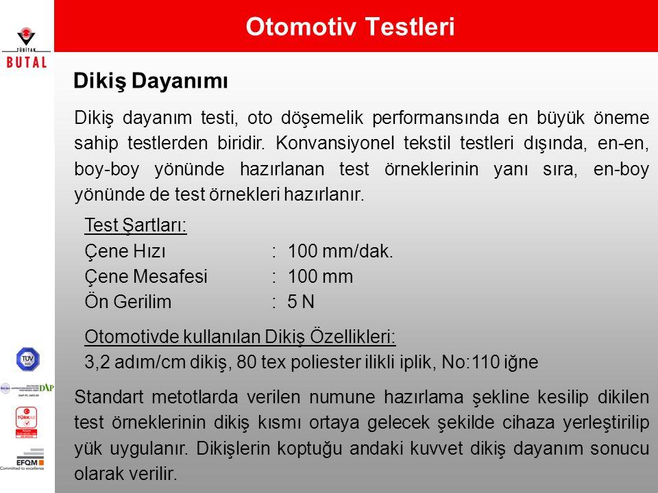 Otomotiv Testleri Dikiş Dayanımı