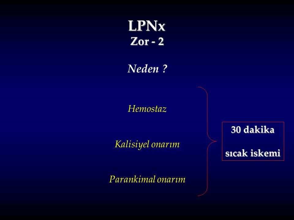 LPNx Zor - 2 Neden Hemostaz Kalisiyel onarım Parankimal onarım