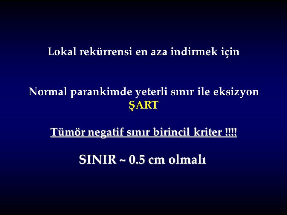 SINIR ~ 0.5 cm olmalı Lokal rekürrensi en aza indirmek için