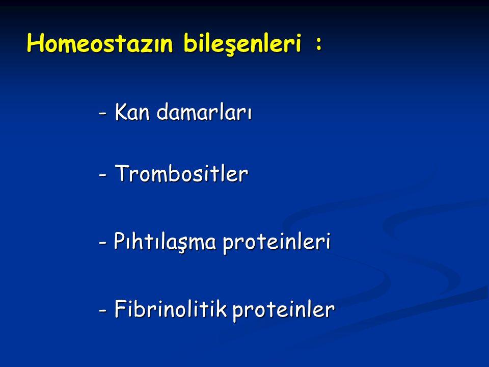 Homeostazın bileşenleri :