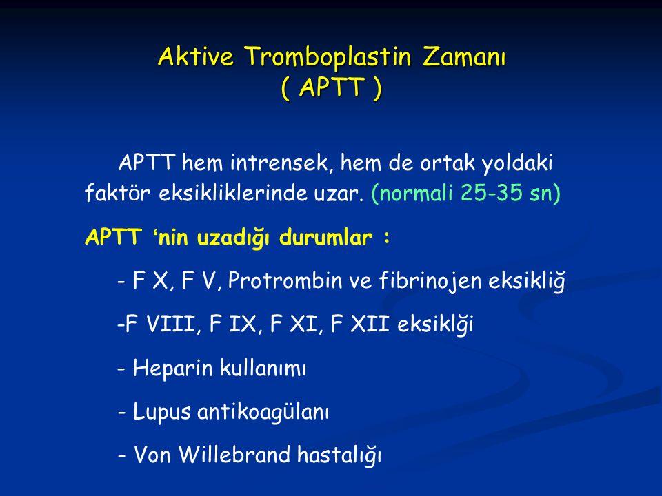Aktive Tromboplastin Zamanı ( APTT )