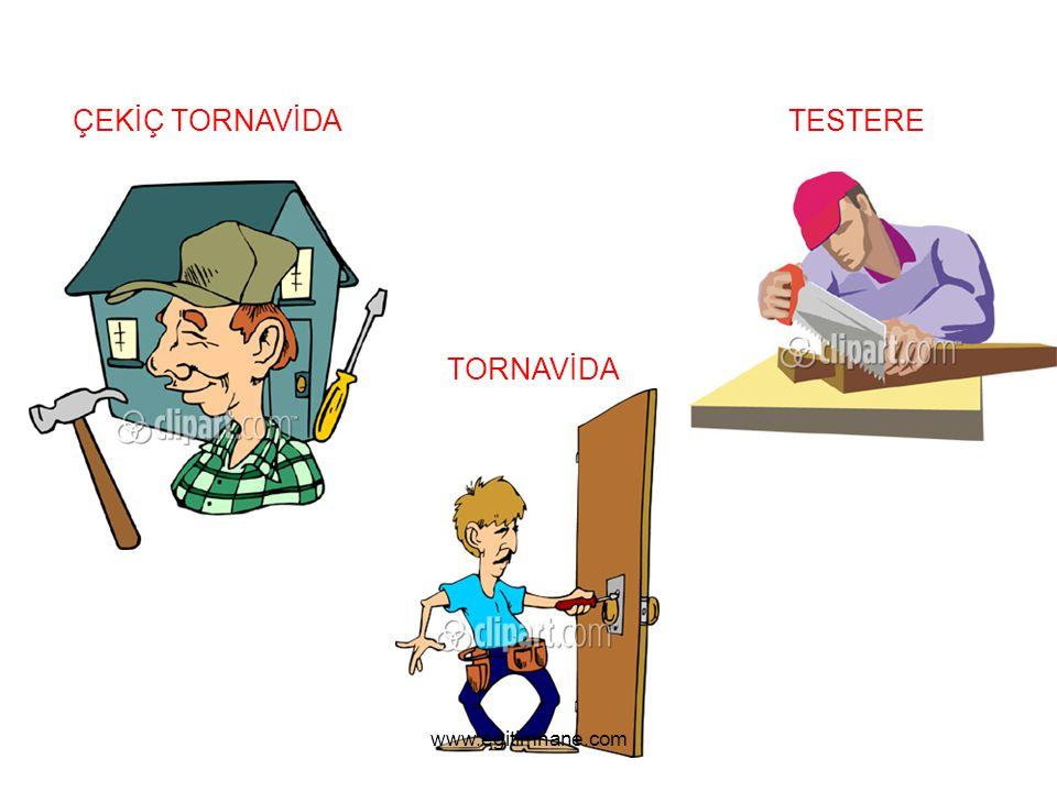 ÇEKİÇ TORNAVİDA TESTERE TORNAVİDA www.egitimhane.com