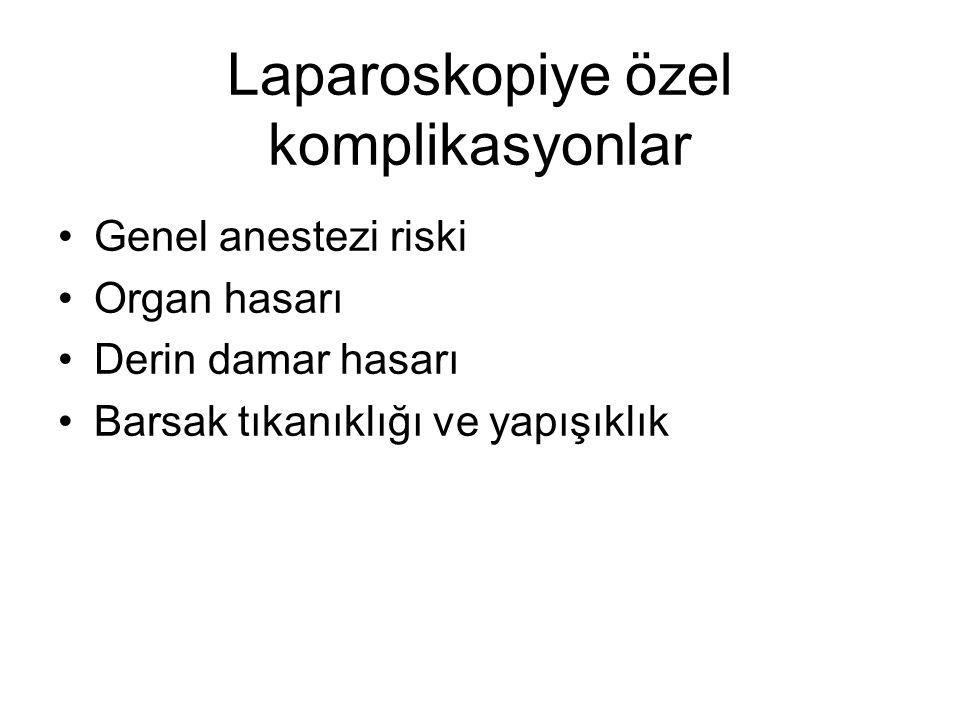 Laparoskopiye özel komplikasyonlar