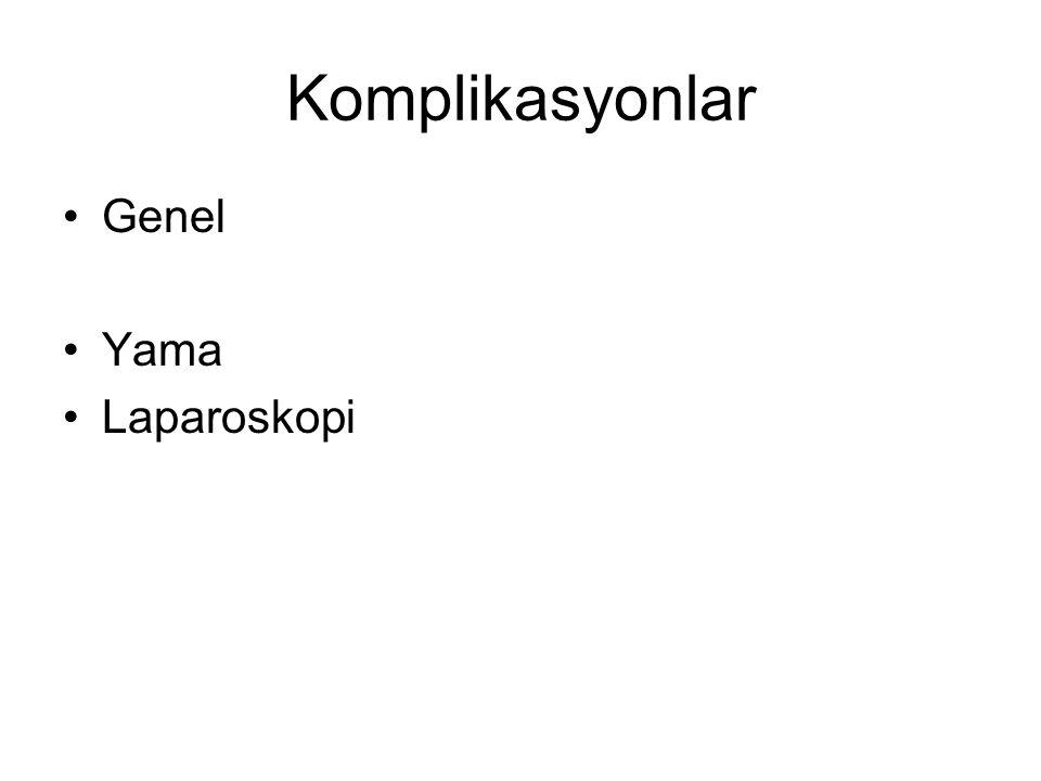 Komplikasyonlar Genel Yama Laparoskopi