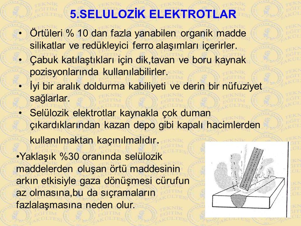 5.SELULOZİK ELEKTROTLAR