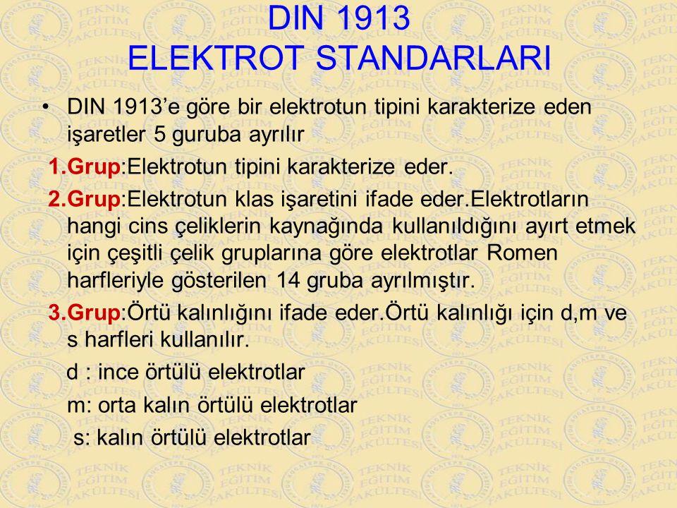 DIN 1913 ELEKTROT STANDARLARI