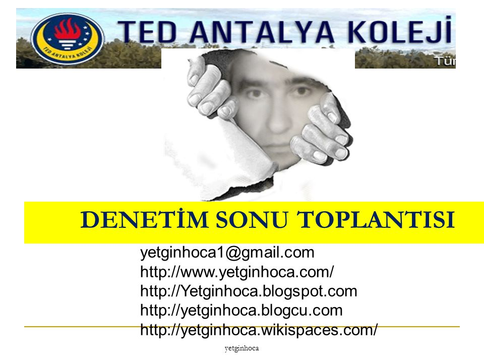 DENETİM SONU TOPLANTISI
