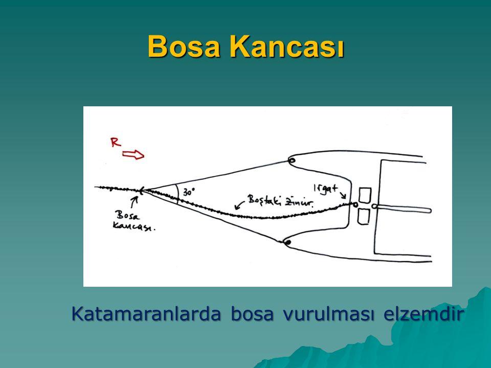 Bosa Kancası Katamaranlarda bosa vurulması elzemdir