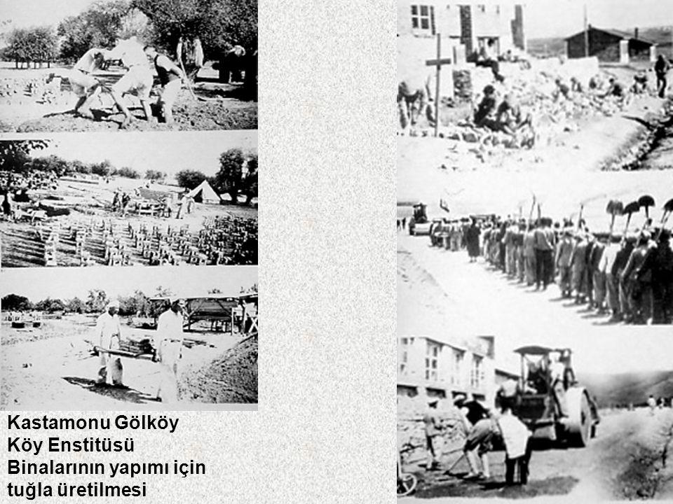 Kastamonu Gölköy Köy Enstitüsü Binalarının yapımı için tuğla üretilmesi