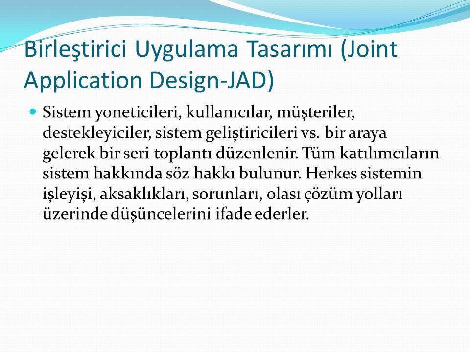 Birleştirici Uygulama Tasarımı (Joint Application Design-JAD)