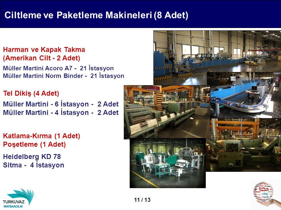 Ciltleme ve Paketleme Makineleri (8 Adet)