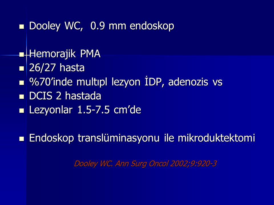 %70'inde multıpl lezyon İDP, adenozis vs DCIS 2 hastada