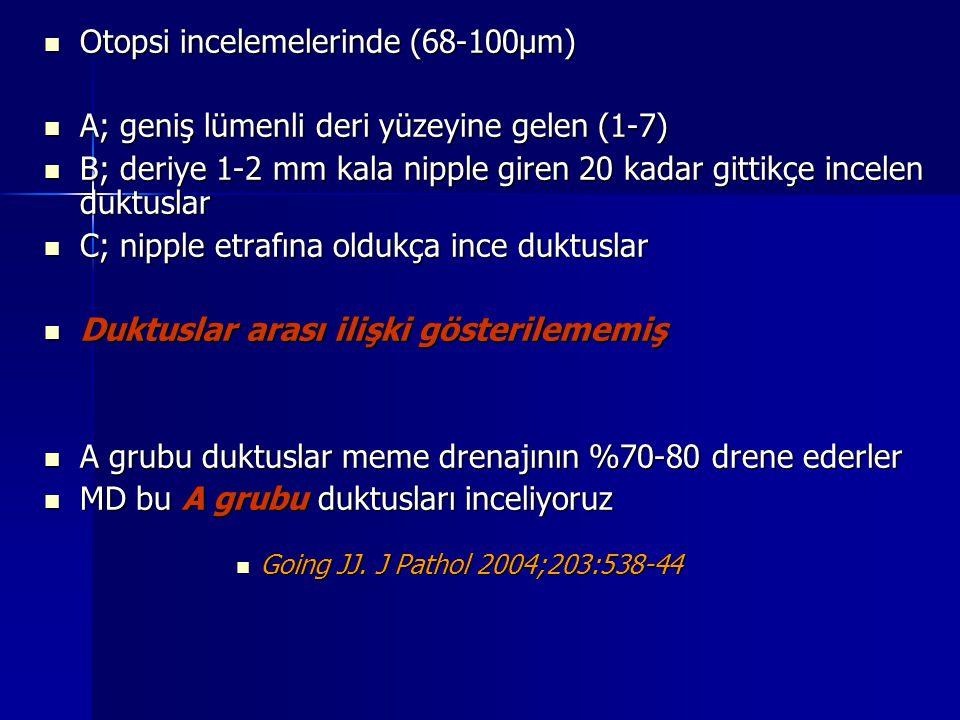 Otopsi incelemelerinde (68-100µm)