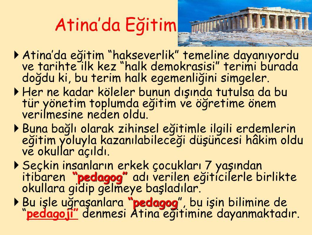 Atina'da Eğitim