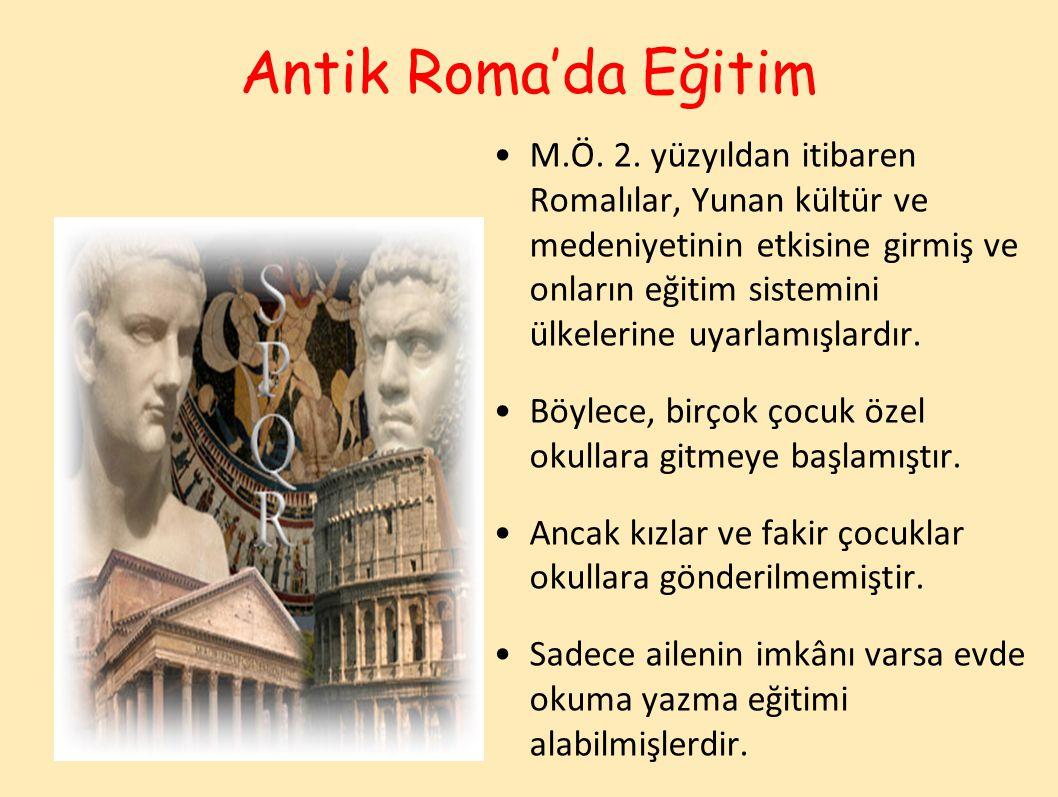 Antik Roma'da Eğitim