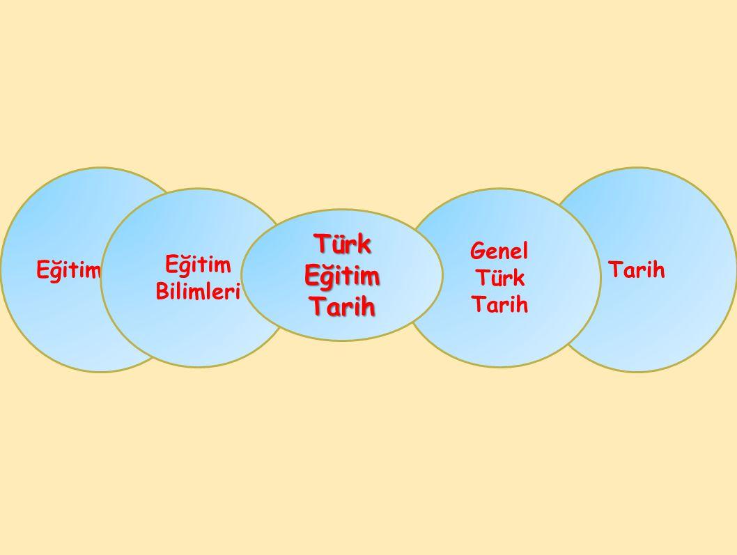 Eğitim Tarih Eğitim Bilimleri Genel Türk Tarih Türk Eğitim Tarih
