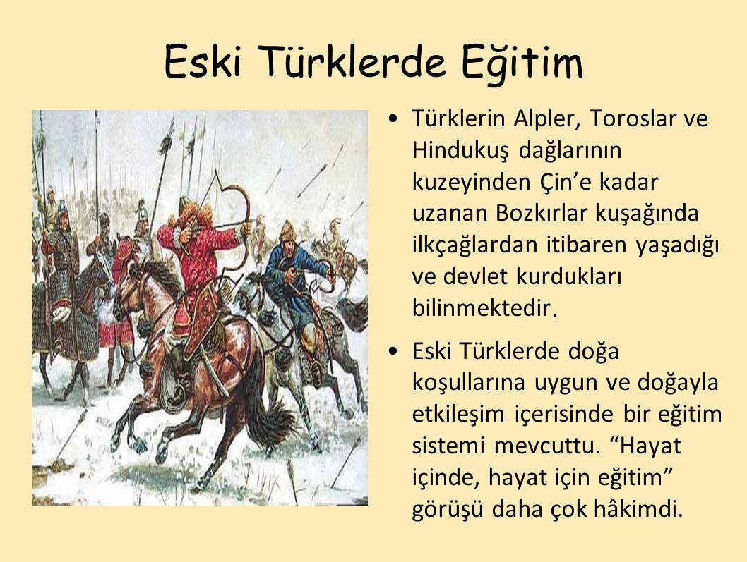 Eski Türklerde Eğitim