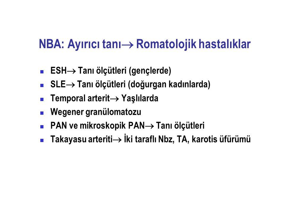 NBA: Ayırıcı tanı Romatolojik hastalıklar