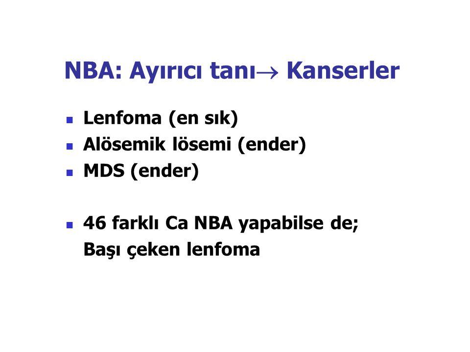 NBA: Ayırıcı tanı Kanserler
