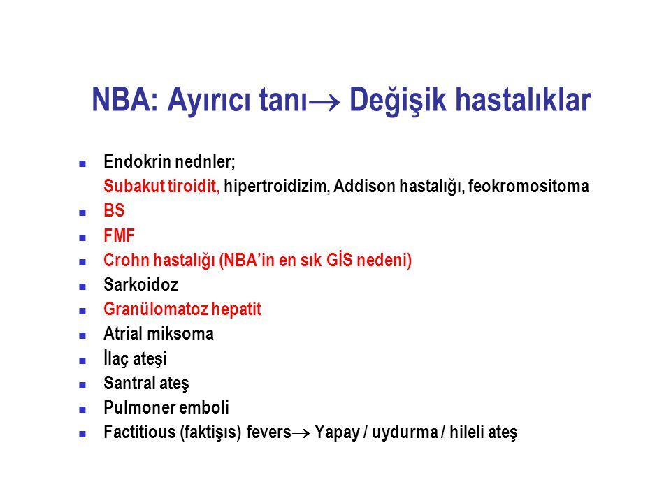 NBA: Ayırıcı tanı Değişik hastalıklar