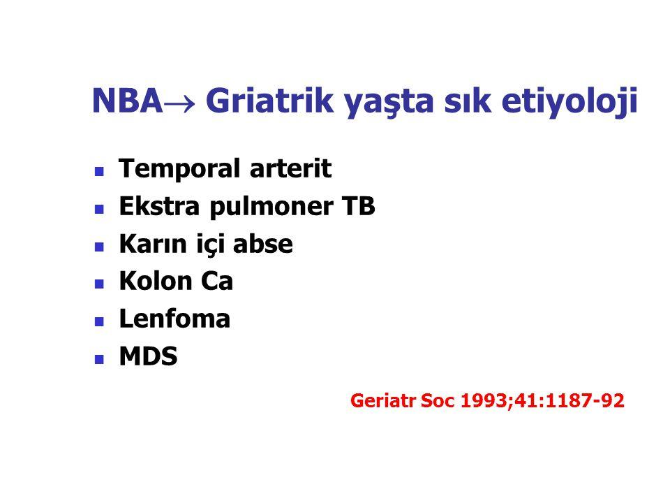 NBA Griatrik yaşta sık etiyoloji