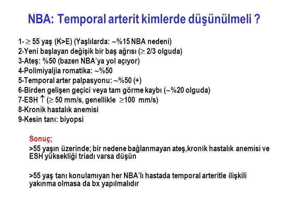 NBA: Temporal arterit kimlerde düşünülmeli