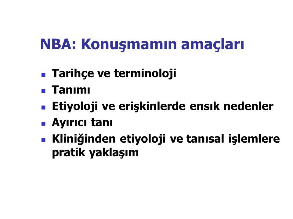 NBA: Konuşmamın amaçları