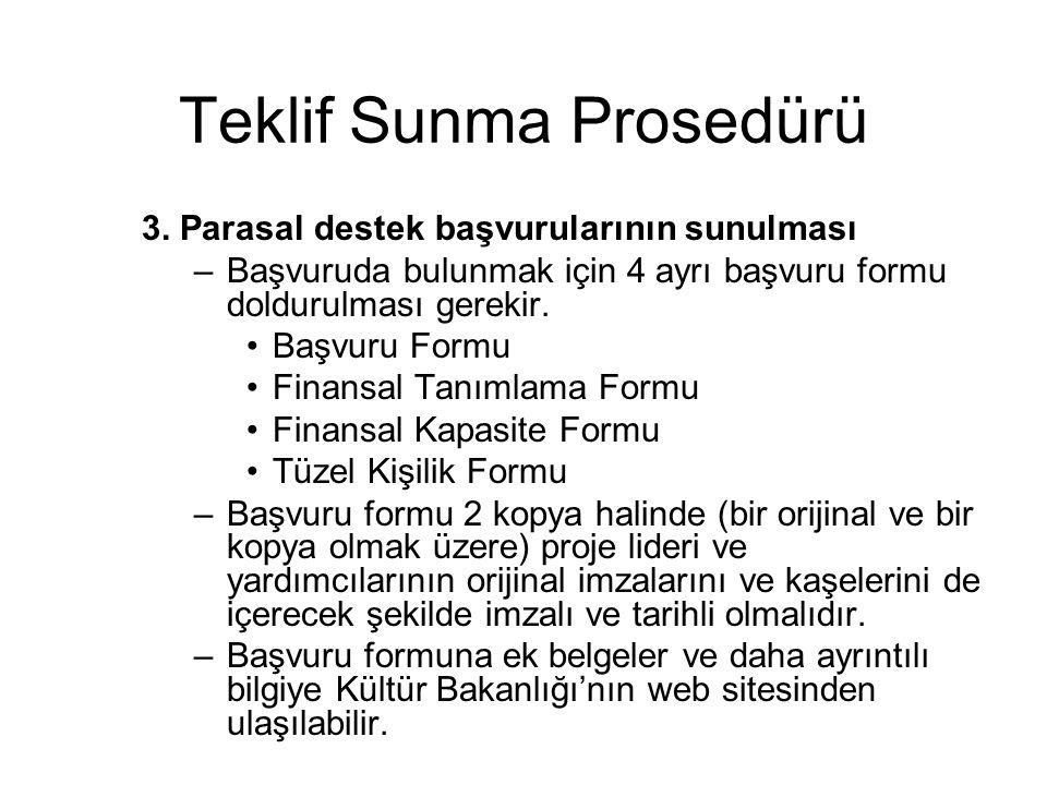 Teklif Sunma Prosedürü