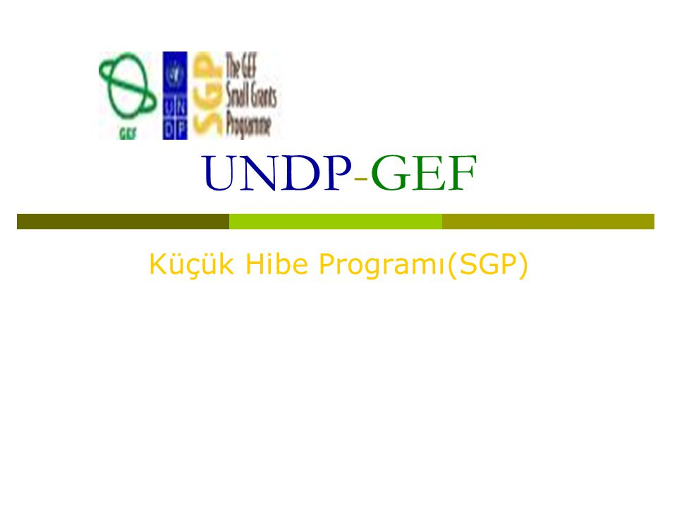 Küçük Hibe Programı(SGP)