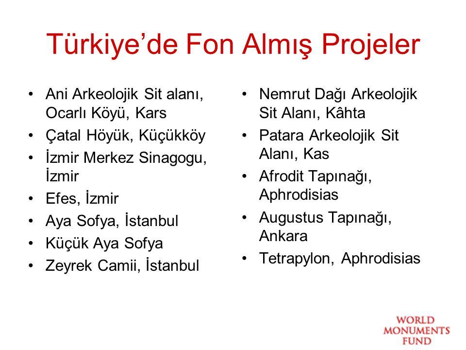 Türkiye'de Fon Almış Projeler