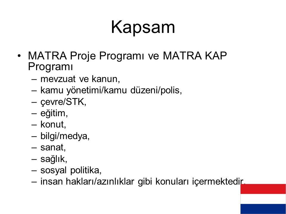 Kapsam MATRA Proje Programı ve MATRA KAP Programı mevzuat ve kanun,