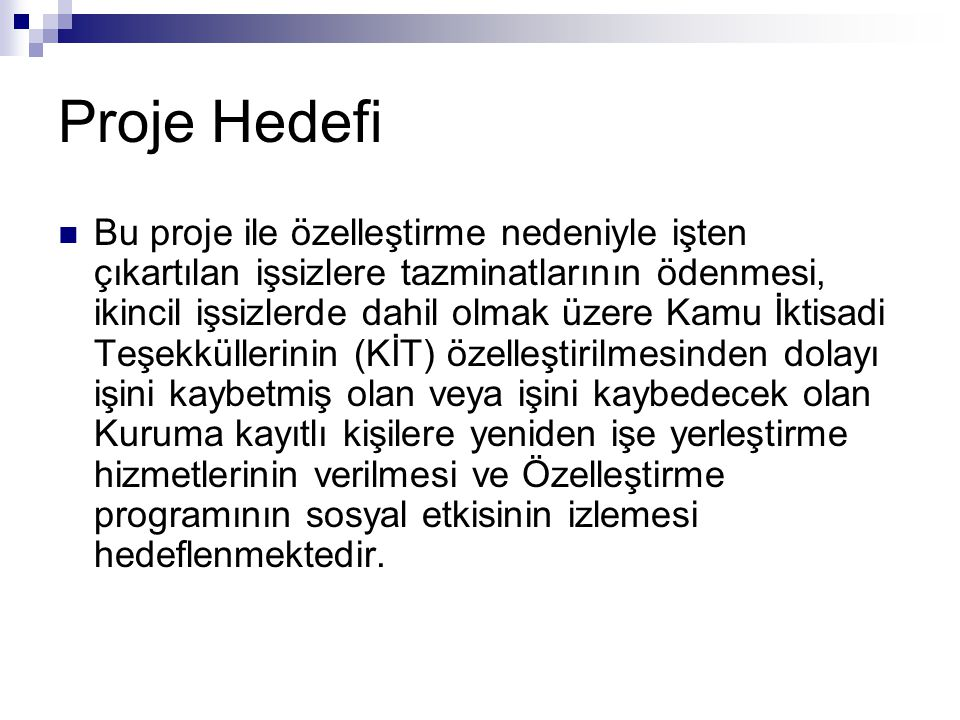 Proje Hedefi