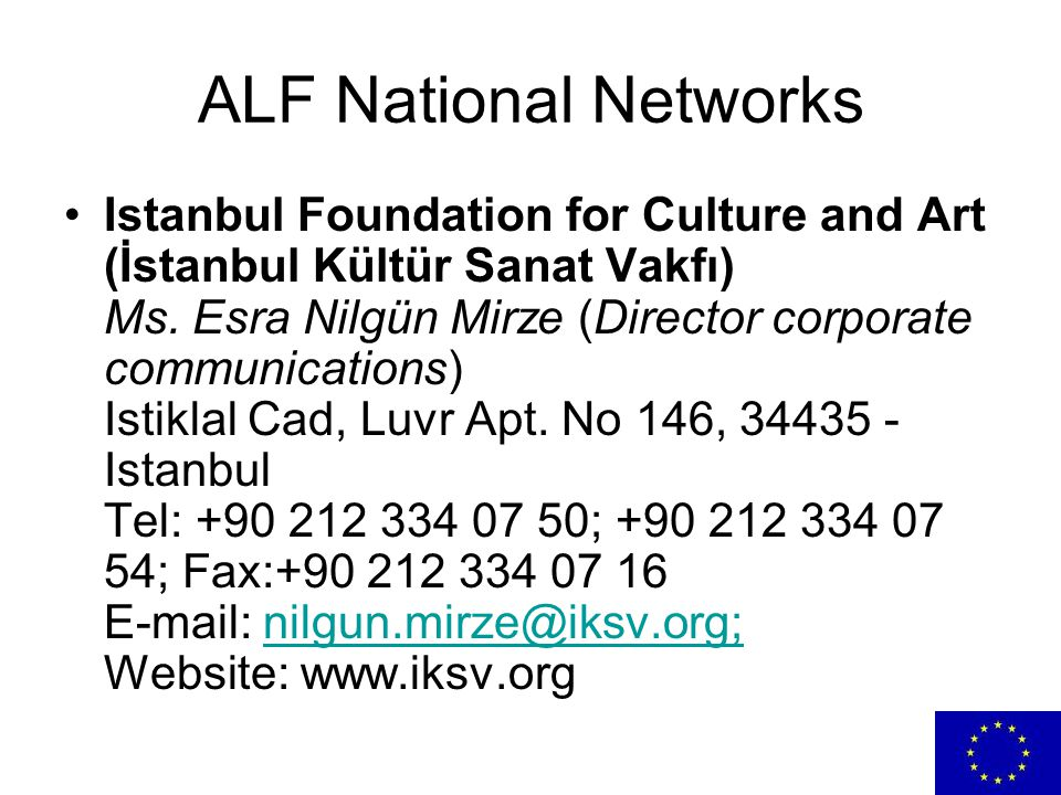 ALF National Networks