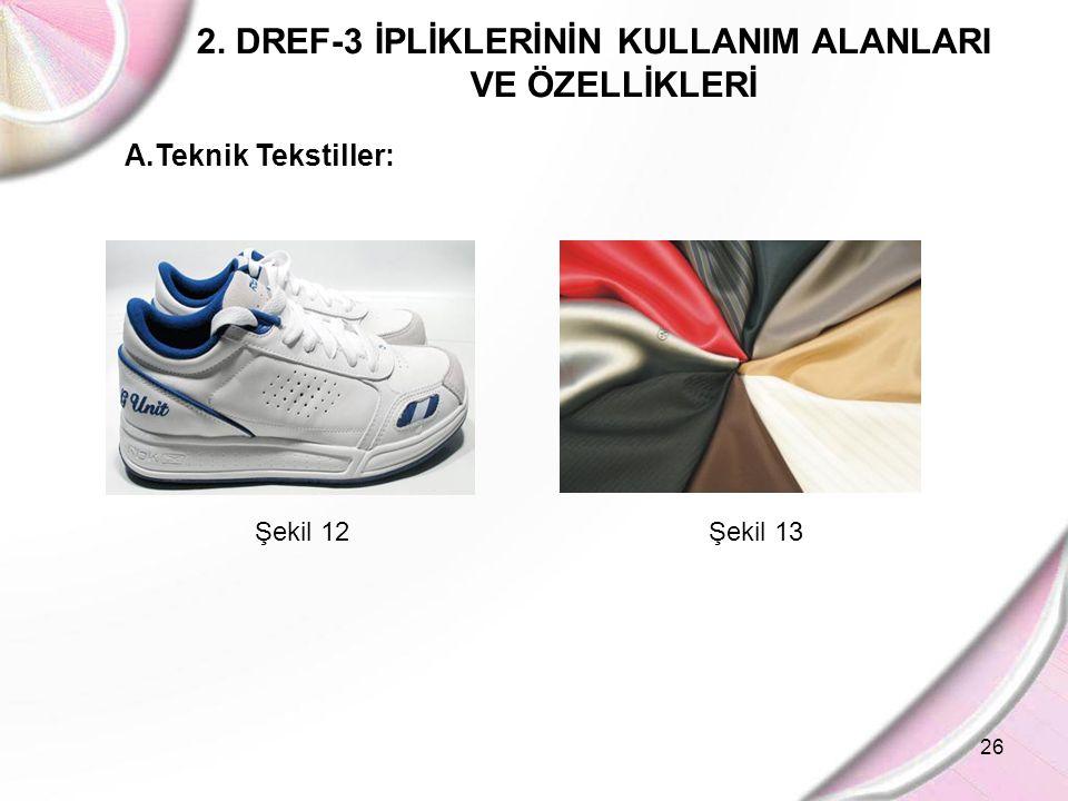 2. DREF-3 İPLİKLERİNİN KULLANIM ALANLARI VE ÖZELLİKLERİ