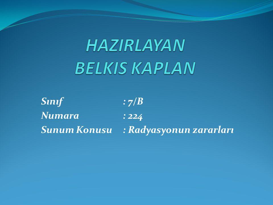 HAZIRLAYAN BELKIS KAPLAN