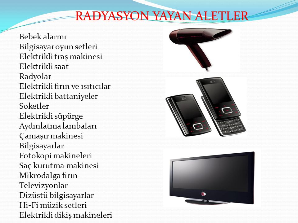 RADYASYON YAYAN ALETLER