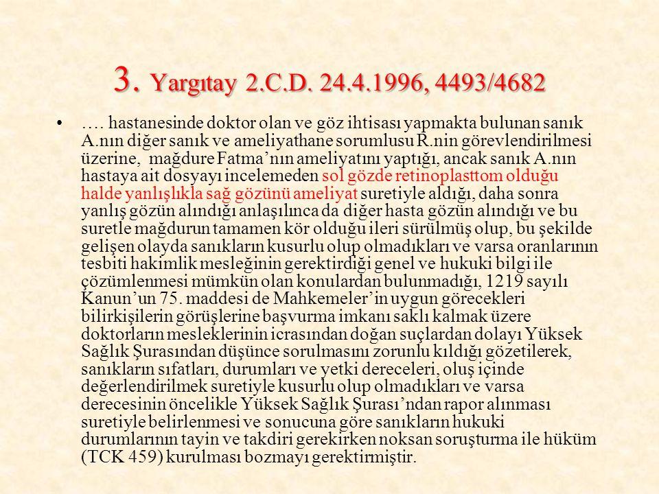 3. Yargıtay 2.C.D. 24.4.1996, 4493/4682