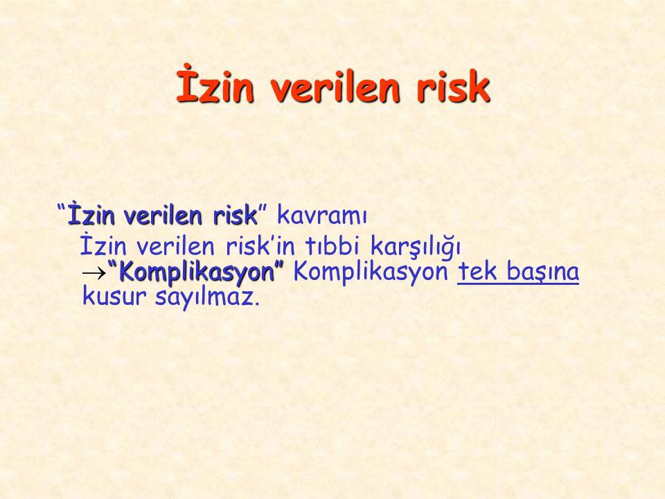 İzin verilen risk İzin verilen risk kavramı