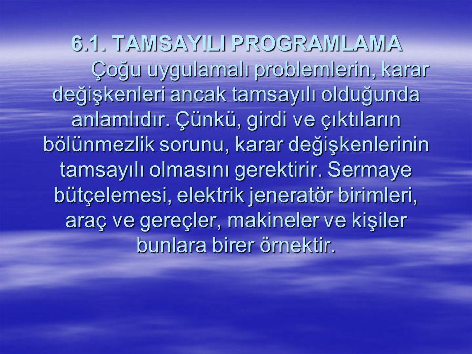 6. 1. TAMSAYILI PROGRAMLAMA