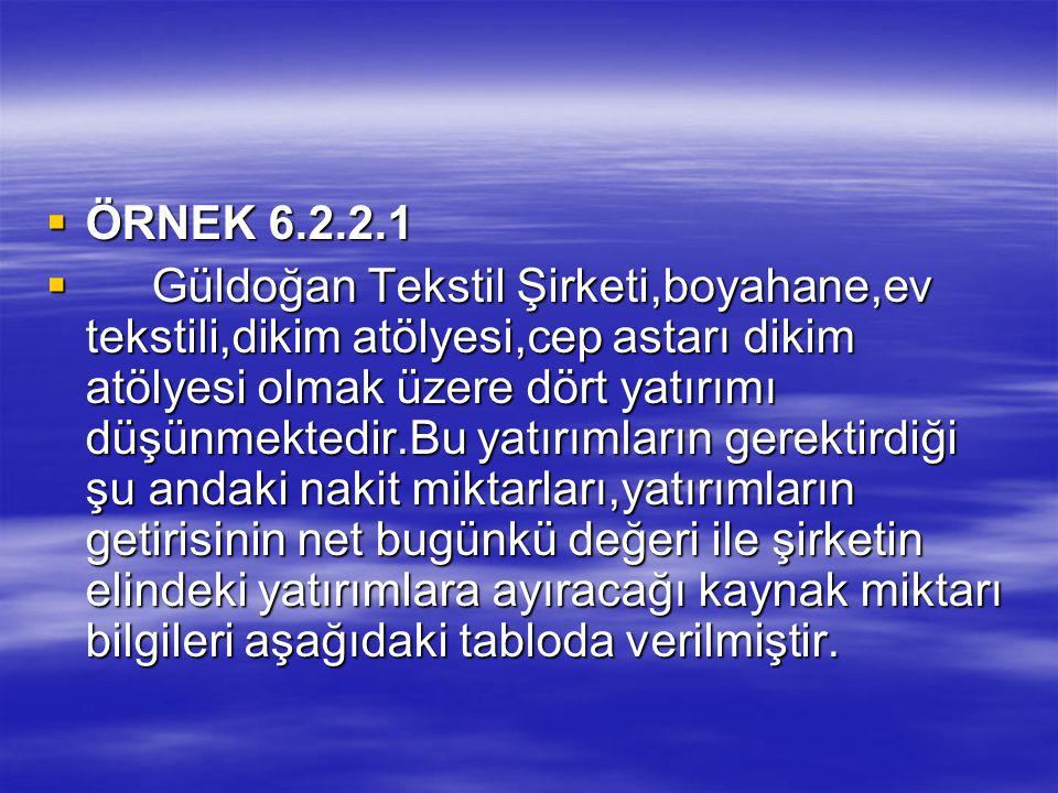 ÖRNEK 6.2.2.1