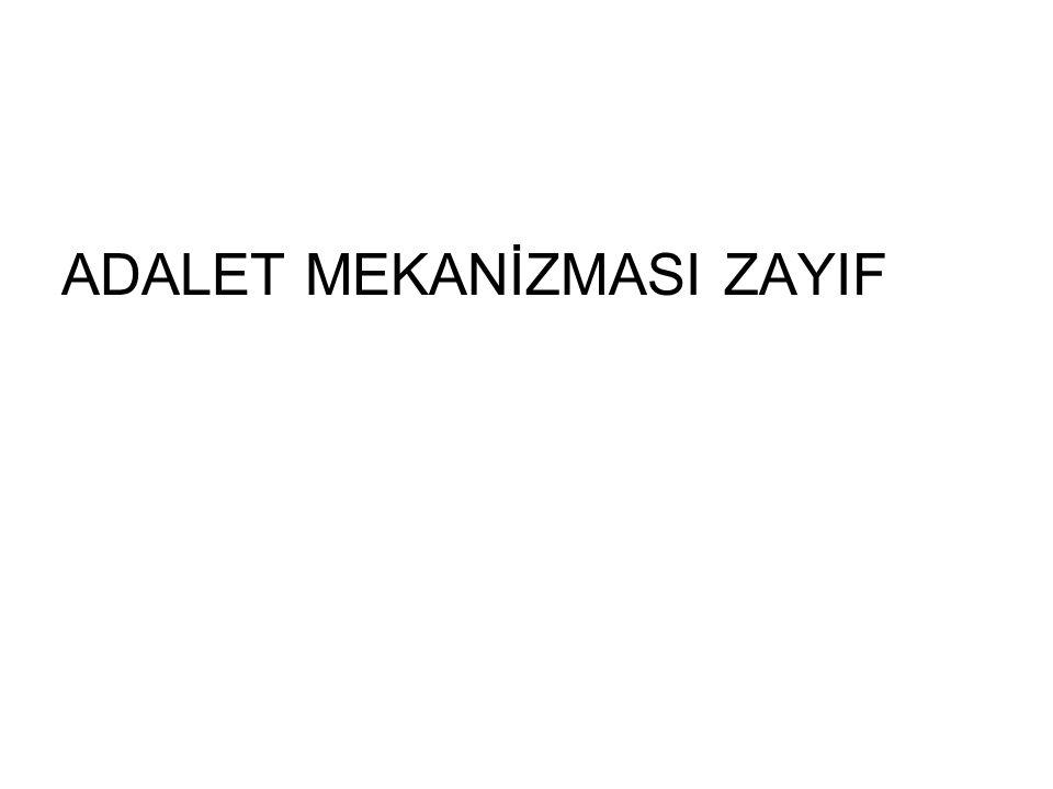ADALET MEKANİZMASI ZAYIF