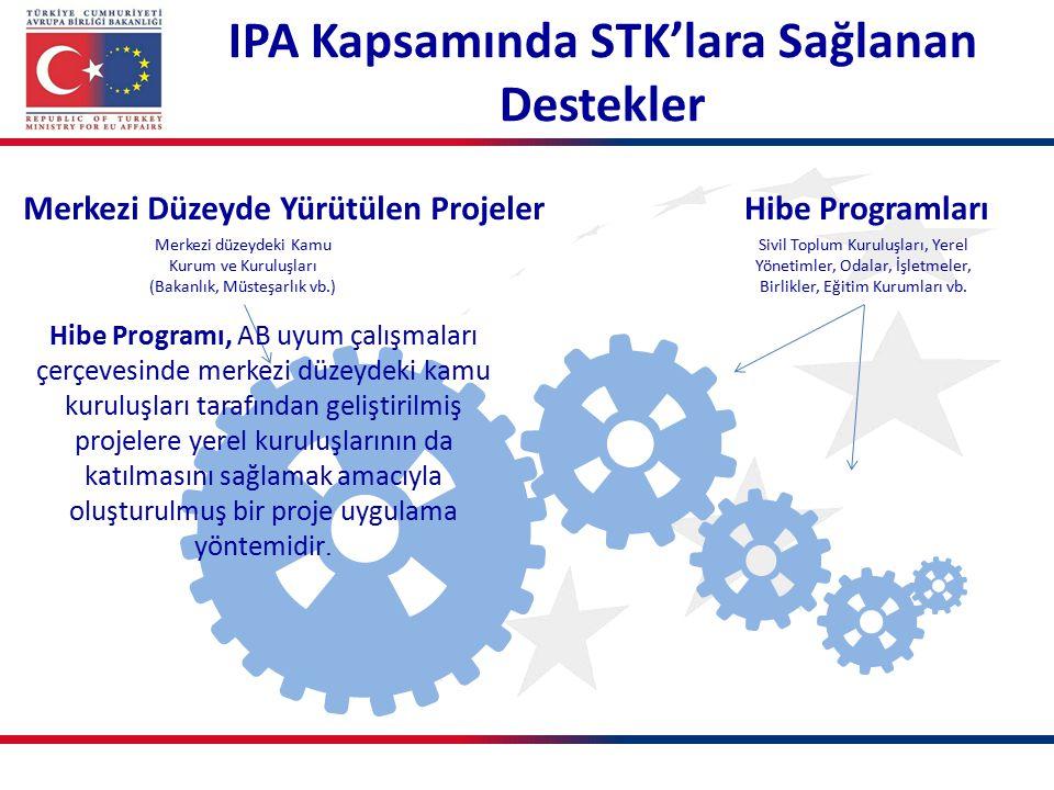 IPA Kapsamında STK'lara Sağlanan Destekler