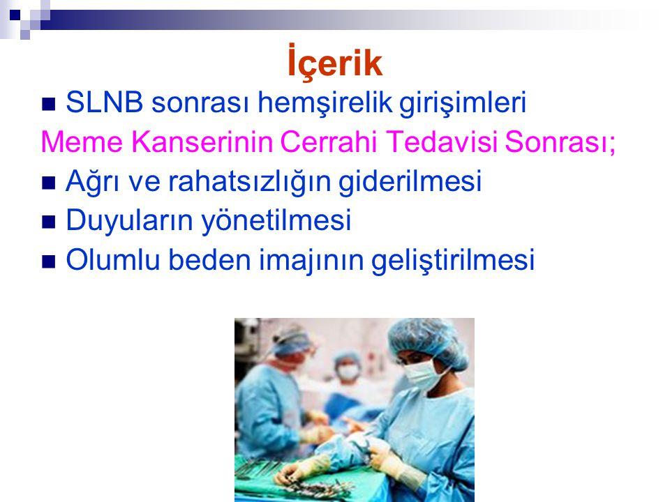 İçerik SLNB sonrası hemşirelik girişimleri